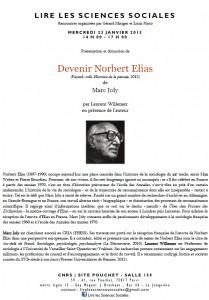 23 janvier 2013 / M. Joly / Devenir Norbert Elias